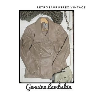Vintage Taupe Lambskin Friends Peacoat Medium